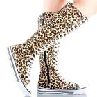 Womens Leopard Shoes Boots
