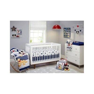 Disney Crib Bedding Nursery Sets For Boys Baby Mickey Mouse Comforter Sheet 4 Pc ()