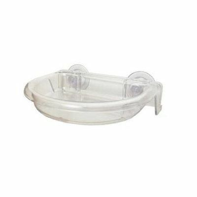 DROLL YANKEE YANKEES TWEET SPOT DISH WITH DRAINAGE HOLES CLEAR BIRD FEEDER