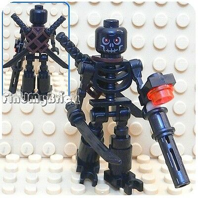M707 Lego Skeleton Minifigure with Swords and Magazine Gun NEW](Toy Swords And Guns)