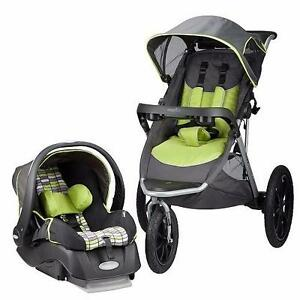 NEW Evenflo Victory Jogging Travel System with Embrace LX Infant Car Seat