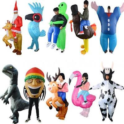 Adults Kids Halloween Xmas Inflatable Costume Blowup Cosplay Blow Up Suit W8G2 (Halloween Blowups)