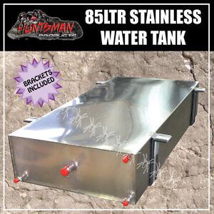 CARAVAN, CAMPER TRAILER 4wd Stainless Steel WATER TANK. 85 LITRE & brackets