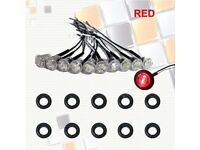 "20X 3/4"" inch Red Round Clearance LED Bullet Lamp for Truck Trailer Side Marker"