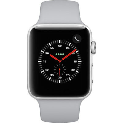 New Apple Watch Series 3 42Mm Silver Aluminum Case Fog Sport Band Gps   Cellular