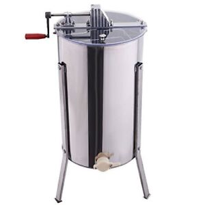 HONEY EXTRACTOR LARGE TWO FRAME STAINLESS STEEL USED 3x