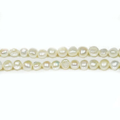 Strand 75+ Pale Cream Freshwater Pearl 2-5mm Baroque Potato Beads FP1679-2