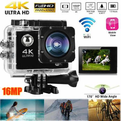 Ultra HD 4K Sport Action Camera WiFi 16MP Video Recorder 30M Waterproof Mini DV