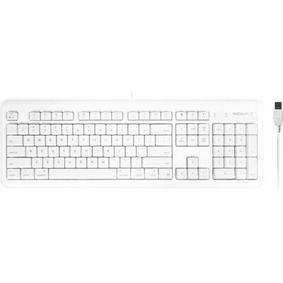 Macally Full Size USB Wired Computer Keyboard for Mac, Apple