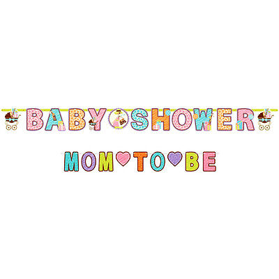 BABY SHOWER Mom to Be JUMBO BANNER ~ Party Supplies Decorations Safari Neutral (Baby Shower Neutral Decorations)