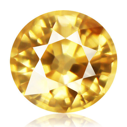 Zircon 1.53ct extremely rare aaa yellow color 100% natural earth mined Cambodia