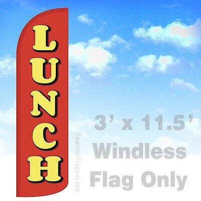 Lunch Windless Swooper Flag Feather Banner Sign 3x11.5 - Rq