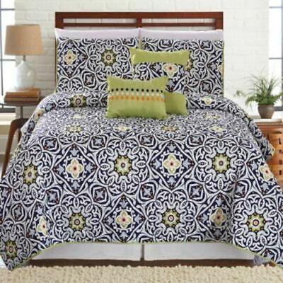 NEW Sanctuary Printed Reversible 5 Piece Quilt Set - Cadiz -