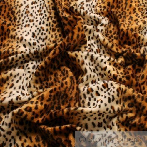 leopard fell stoff ebay. Black Bedroom Furniture Sets. Home Design Ideas