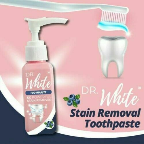 Dr. White Stain Removal Toothpaste Smoke Coffee Tea Reduce Tooth Dirt White New
