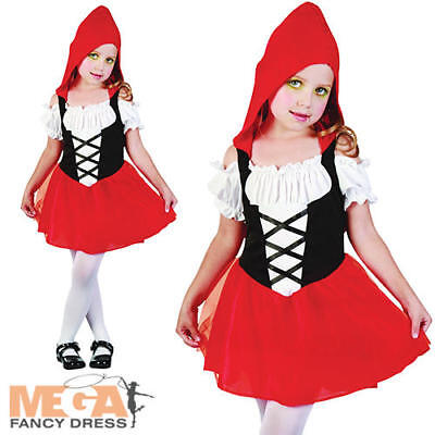 Red Riding Hood Girls Fancy Dress Fairy Tale Book Kids Toddler Costume Outfit - Princess Red Riding Hood Child Costume