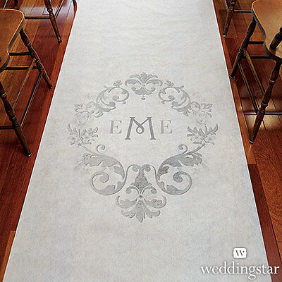 Monogram Simplicity PERSONALIZED Aisle Runner Wedding Ceremony Decoration  (Personalized Wedding Aisle Runner)