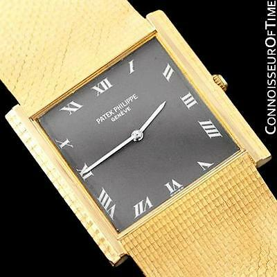 $5495.00 - 1975 PATEK PHILIPPE Vintage Mens Gondolo Ultra Thin Bracelet Watch - 18K Gold
