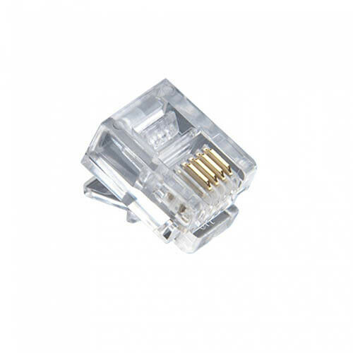 Platinum Tools 106110 RJ-11 (6P4C) Connectors Flat-Stranded. 500/Bag.