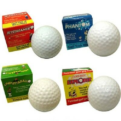 Funny Prank Golf Ball Set Comes with 4 Styles Great Golf Gift New (47469) - Balls Funny