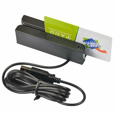 Msr90 Usb 3-track Magnetic Stripe Credit Card Reader Swipe Mag Strip Pos Swiper