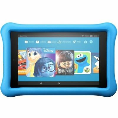 "All-New Fire HD 8 Kids Edition Tablet 8"" HD Display 32 GB Blue Kid-Proof ... NEW"