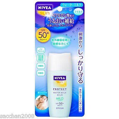 NIVEA Sun Protect Water milk mild SPF50+ PA+++ Bottle Sunscreen 30ml New! - Bottle Sun Protection Cream