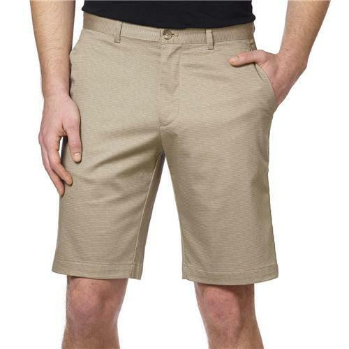 Calvin Klein Lifestyle Comfort Stretch Mens Flat Front Dress Shorts 4-pocket