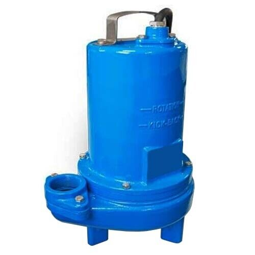 """Submersible SEWAGE TRASH Pump - 2"""" Out - 184 GPM - 230 V - 1/2 HP - Self Priming"""