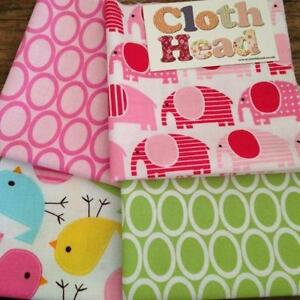 Pink Elephant Fabric