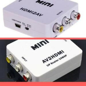 Weekly Promo! HDMI to Composite, Composite/S-video to HDMI,HDMI to AV,AV to HDMI