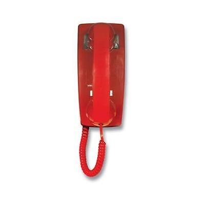 Viking Electronics VK-K-1500P-W RED NO DIAL WALL PHONE WITH RINGER 8D03 ()