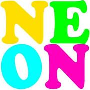 Neon Party Invitations
