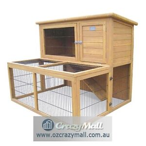 Indoor/Outdoor Rabbit Pet Hutch with Run Extension Melbourne CBD Melbourne City Preview