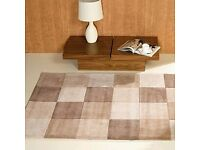 Brand new Flair Rugs Infinite Inspire Squared Handtufted Rug, Natural, 120 x 170 Cm