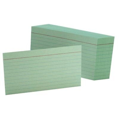 Esselte Printable Index Card - 3 X 5 - 90 Lb - Recycled - 100 Pack - Green