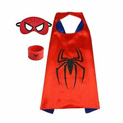 Superhero Capes for Kids, Dress up Costumes-Satin Cape with Felt Mask and Bracel