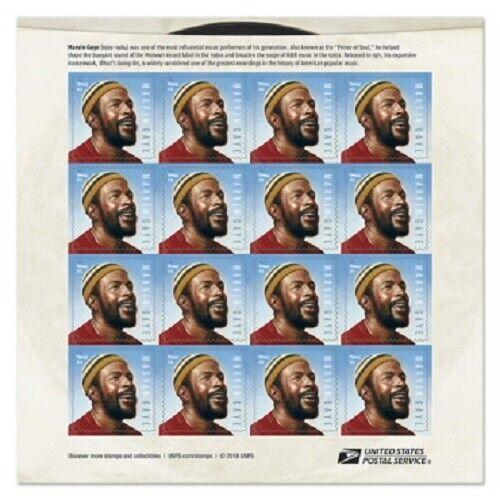 Marvin Gaye Sheet of 16 Forever Stamps
