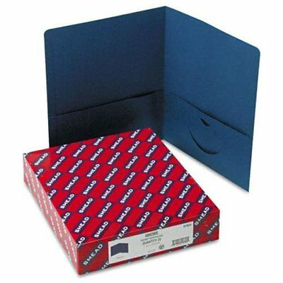 Smead 87854 Dark Blue Two-pocket Heavyweight Folders - 9.75 X 11 - 100 Sheet