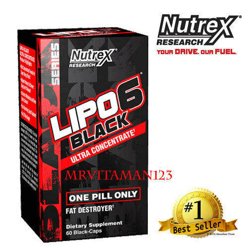 Nutrex LIPO 6 BLACK Ultra Concentrate/Weight Loss 60 Capsules NEW! BMPAR FREE