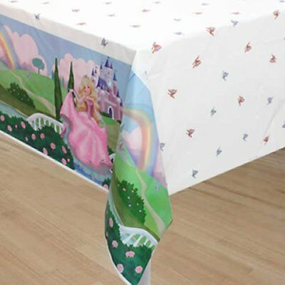 STORYBOOK PRINCESS PLASTIC TABLE COVER ~ Birthday Party Supplies Cloth Pink Girl