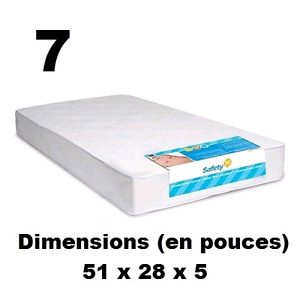 Matelas pour lit de bébé Heavenly Dreams de Safety 1st