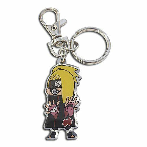 Naruto NEW * Deidara Metal Key Chain * Shippuden Keychain Licensed Anime