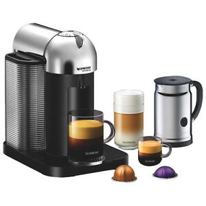 NESPRESSO VERTUOLINE CHROME WITH AEROCCINO PLUS