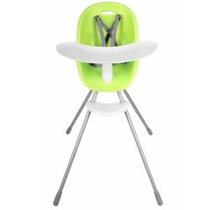 Phil and Ted's lime green Poppy High Chair - used