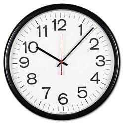 Indoor/Outdoor Clock, 13-1/2in, Black