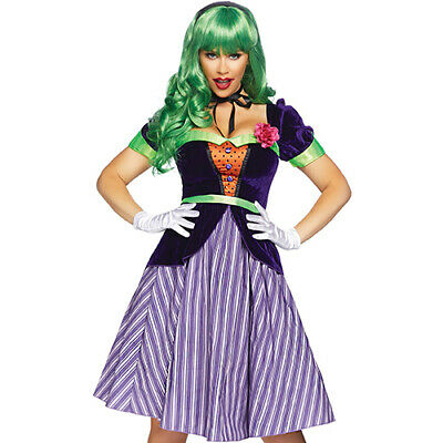 Comic Book Villain Costumes (NEW LEG AVENUE Comic Book Baddie Set Costume - Sexy Vixen Villain Harley)