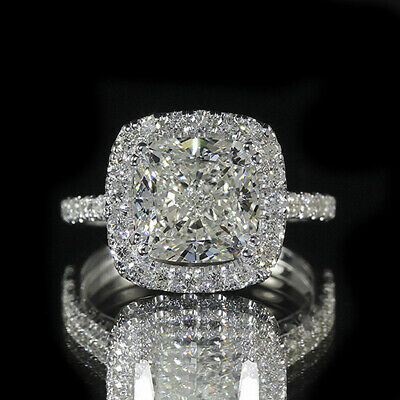 2.45ct GIA 18K White Gold Cushion Diamond Engagement Ring G/VVS2 (7161467876)