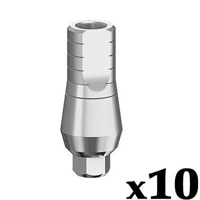 10 X Straight Abutment Dental Implant 9 Mm Plus Screw Fits Ab Mis Zimmer