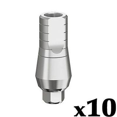 10 X Straight Abutment Dental Implant 9 Mm Plus Screw Fits Ab Mis Zimmer